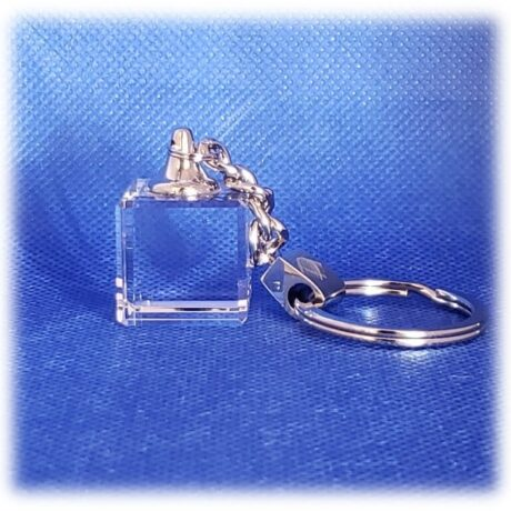 Cube Key Chain with Beveled Edges